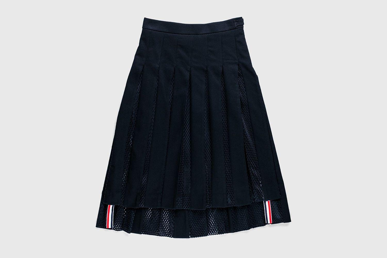 Men's Pleated Mesh Skirt