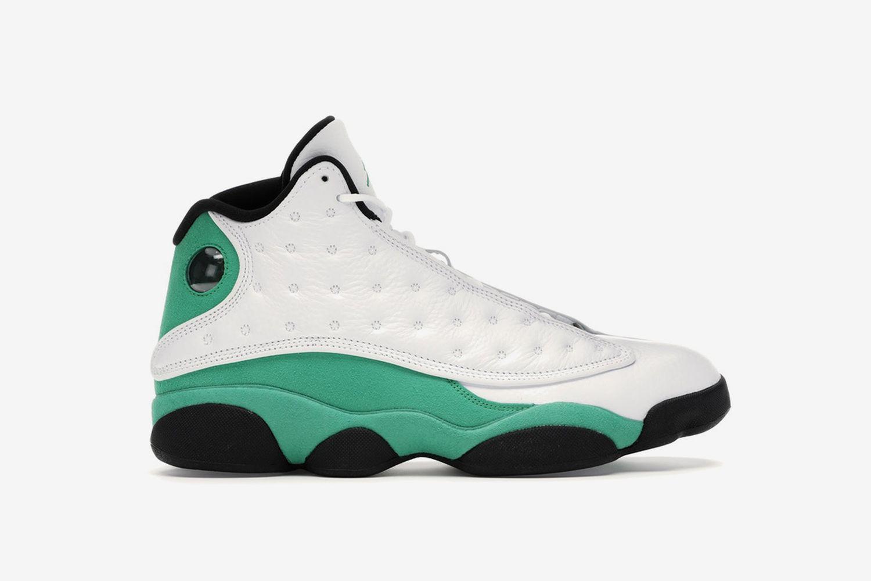 Air Jordan 13 Retro White Lucky Green