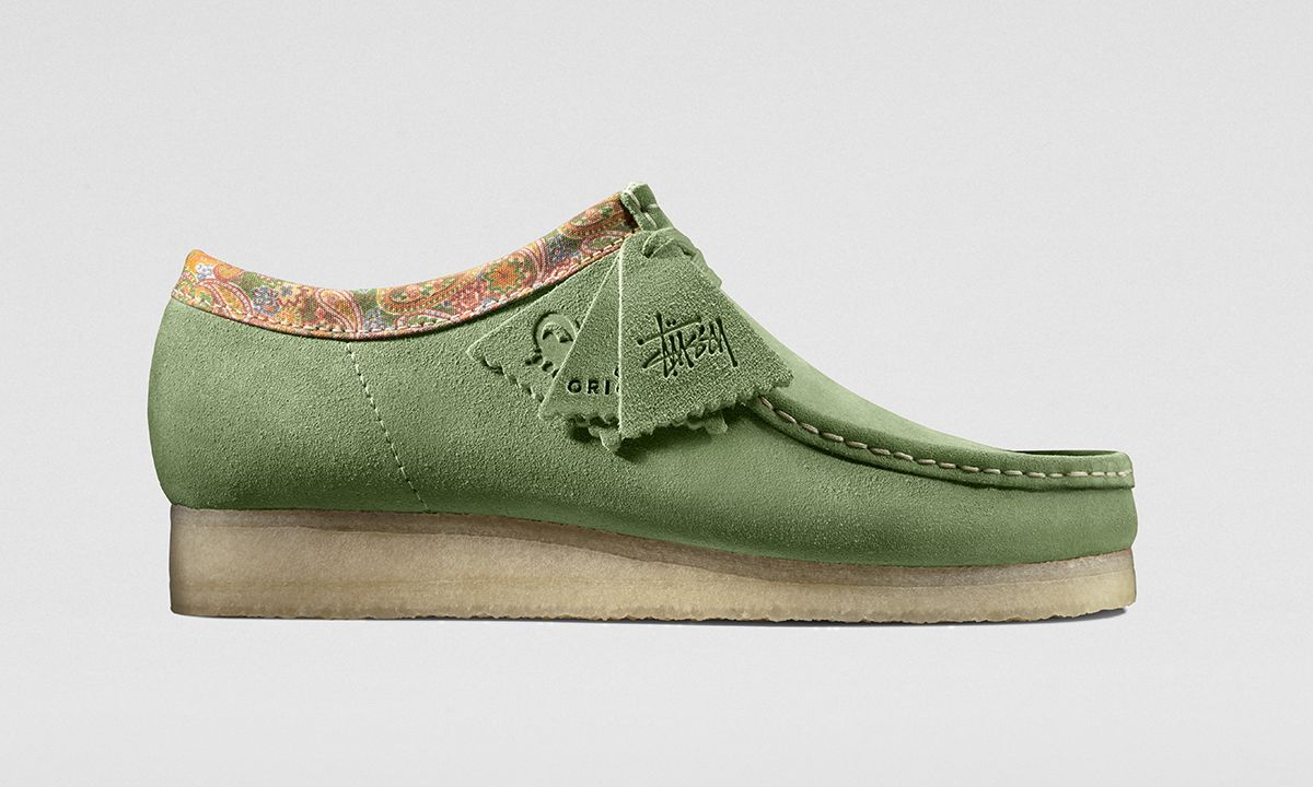 Stüssy Adds a Paisley Collar to the Clarks Wallabee