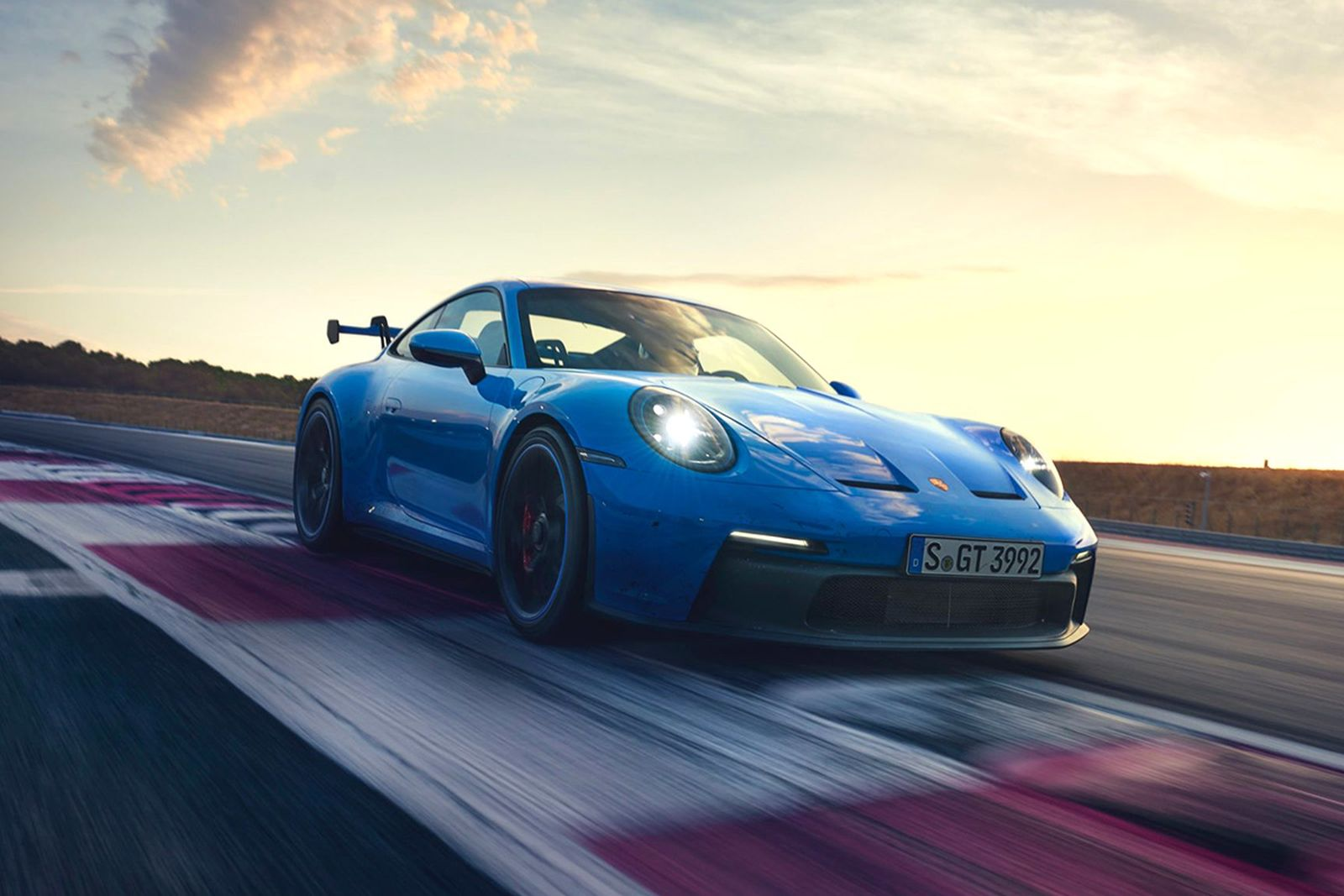 The new Porsche 911 GT3, which debuted in a striking Shark Blue