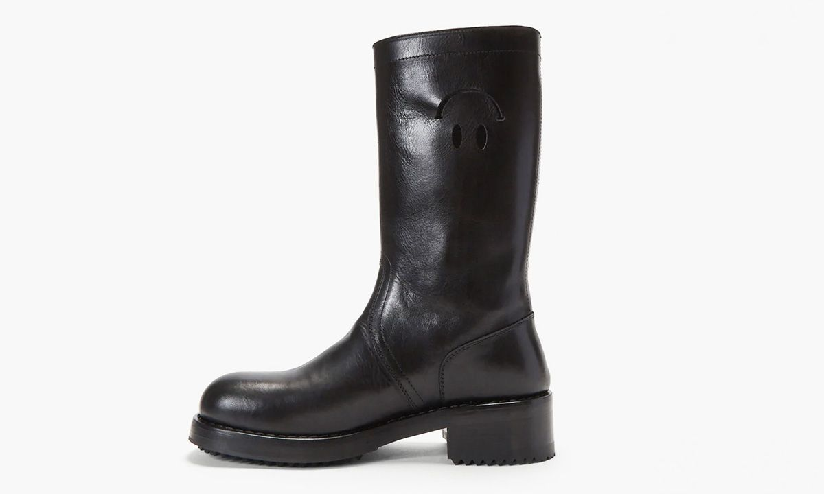 Raf Simons' Cut-Out Black Leather Smiley Boots: How to Cop