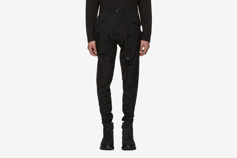 Black Strap Pants