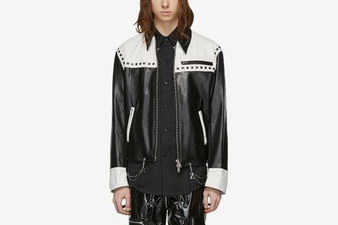 Leather Chain Jacket