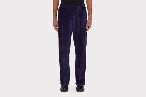 Velour Uneven Dye Track Pants