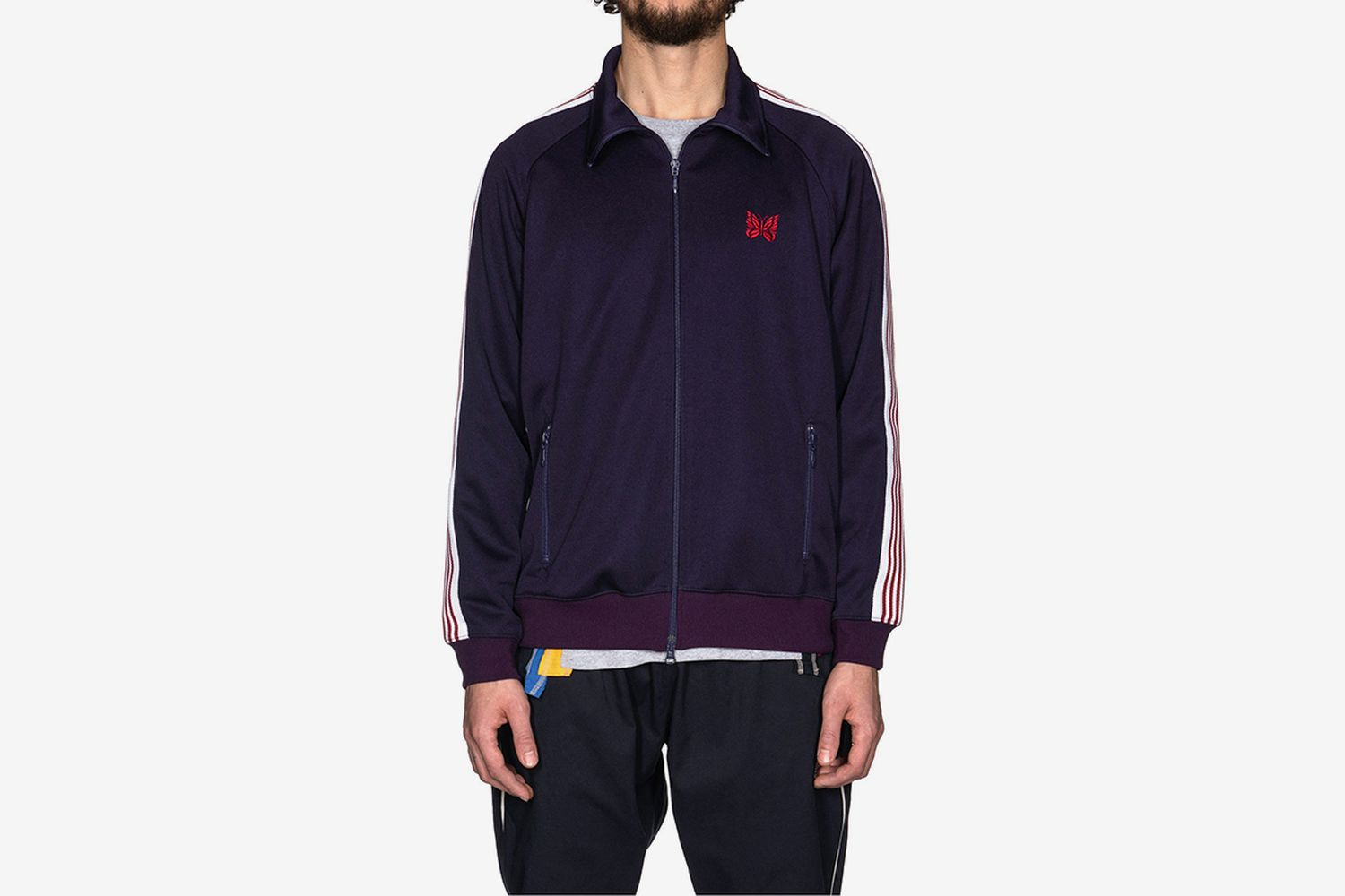 Track Jacket Poly Smooth Eggplant