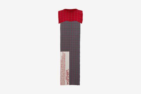 Grid-Jacquard Wool Cape Scarf