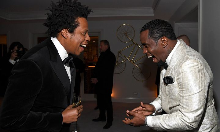JAY Z and Diddy at Diddy's 50th Birthday Bash