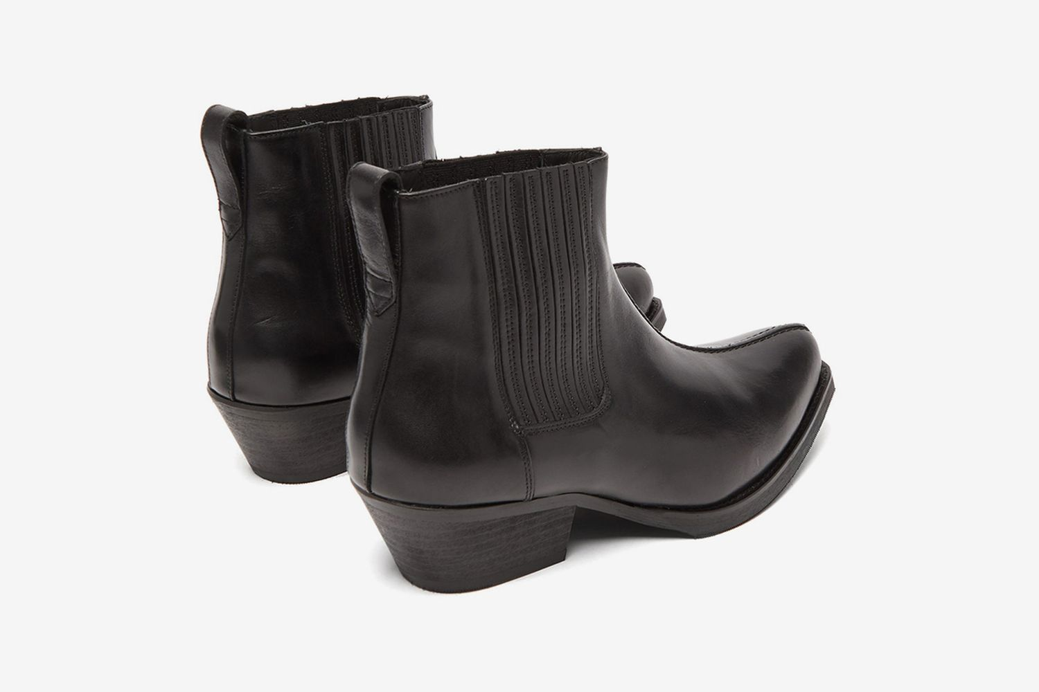 Cuban Heel Leather Boots