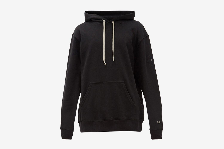 Cotton-Blend Jersey Hooded Sweatshirt