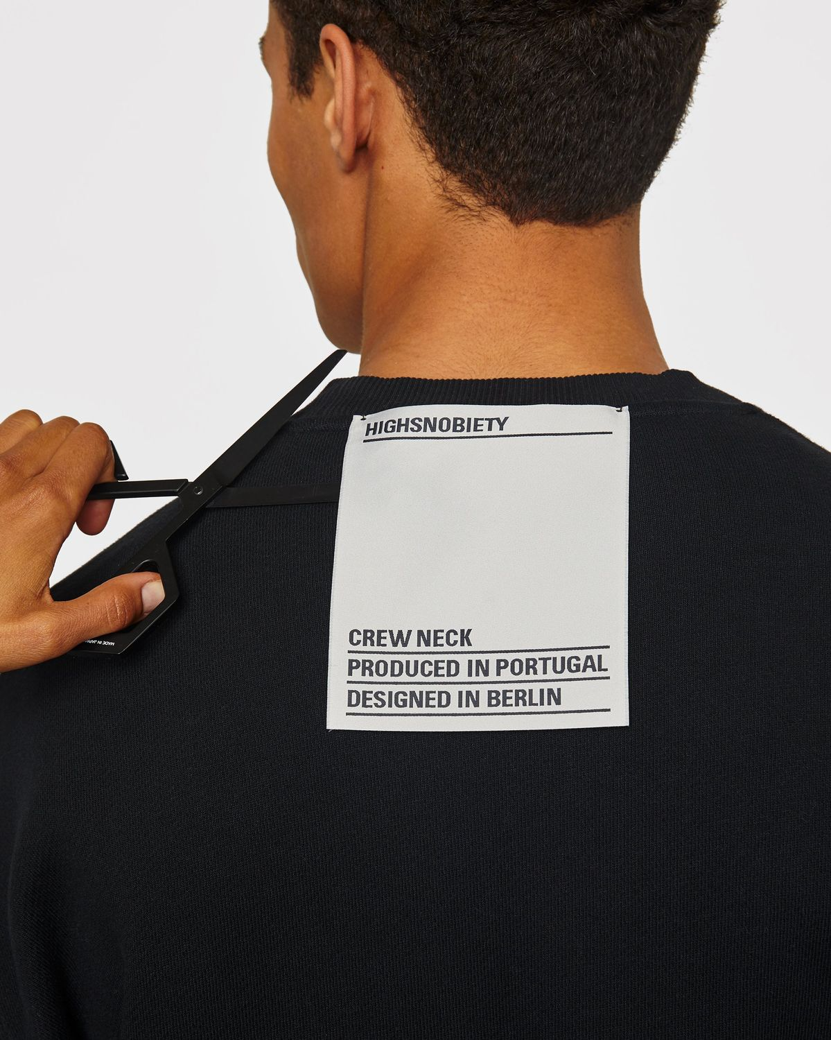 Highsnobiety Staples - Sweatshirt Black - Image 4