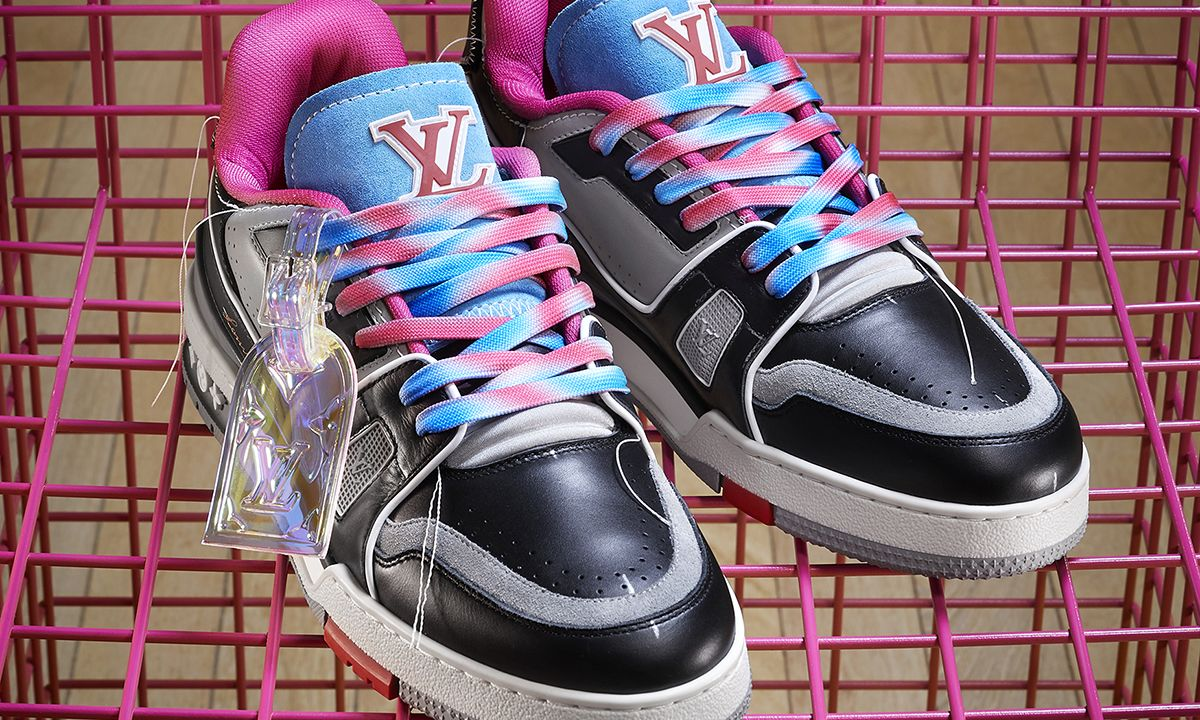 Virgil's New LV Trainers Are Made From Old Louis Vuitton Shoes