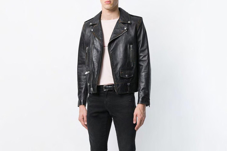 Short Zipped Biker Jacket