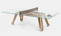 This Glass & Wood Ping Pong Table Is Also a Stylish Piece of Furniture