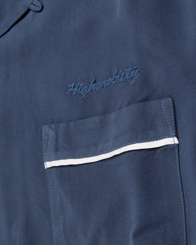 Highsnobiety – Bowling Shirt Navy - Image 4