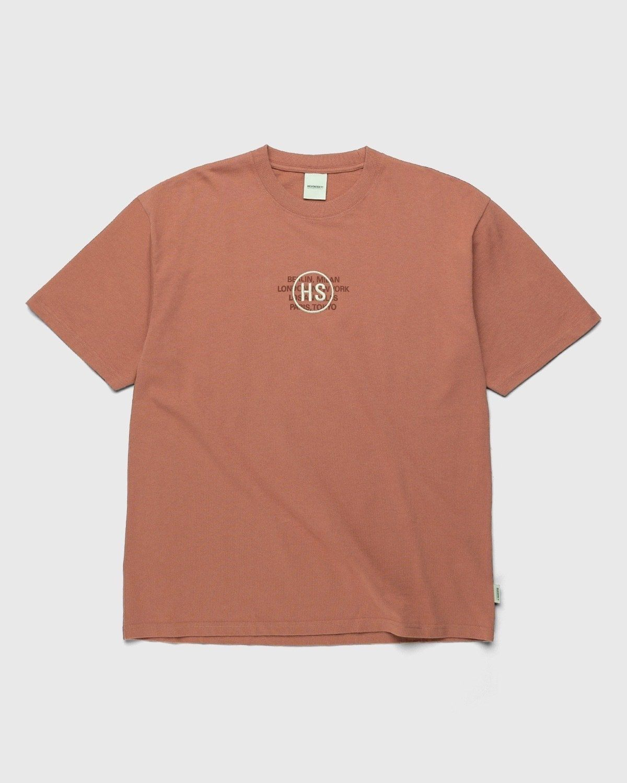 Highsnobiety – Logo T-Shirt Mauve - Image 1
