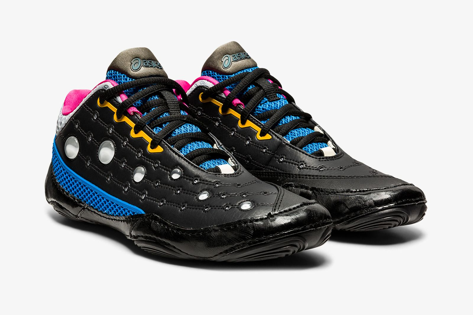kiko kostadinov and asics gesserit 2 sneaker in black and blue