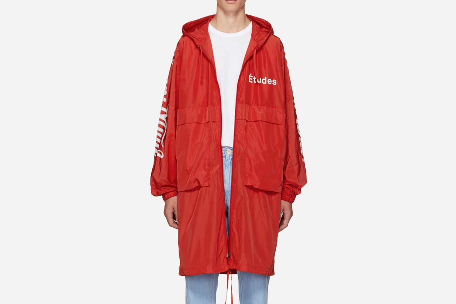 Red Memory Trench Coat