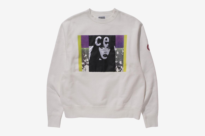 Satin Patch Sweater
