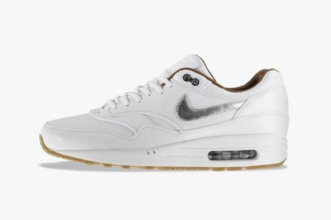 newest ae224 f82e6 A nice new Nike Air Max 1 is coming up for Holiday 2013. This premium  version features a white leather and perforated leather upper and metallic  silver ...