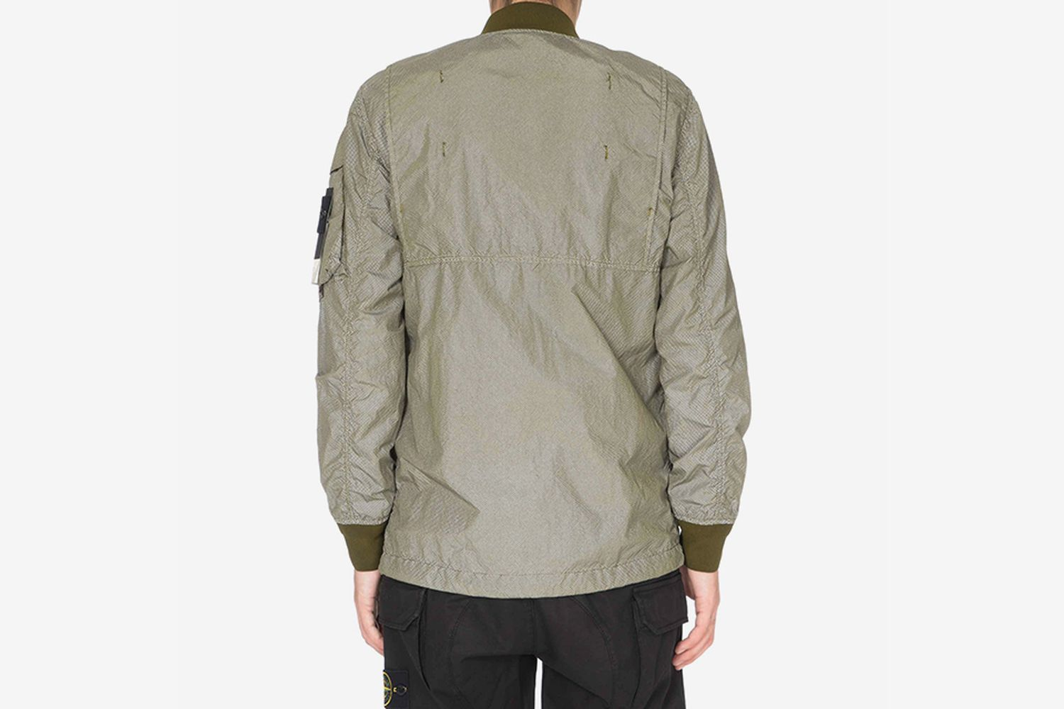 Reflective Long Bomber Jacket