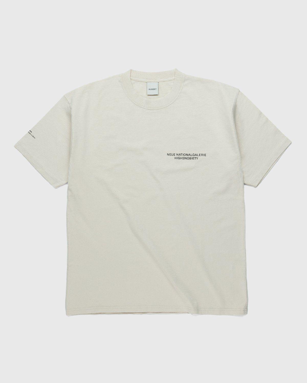 Highsnobiety x Neue National Galerie – T-Shirt Eggshell - Image 2