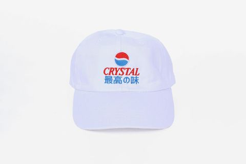 Crystal Pepsi 6 Panel Cap