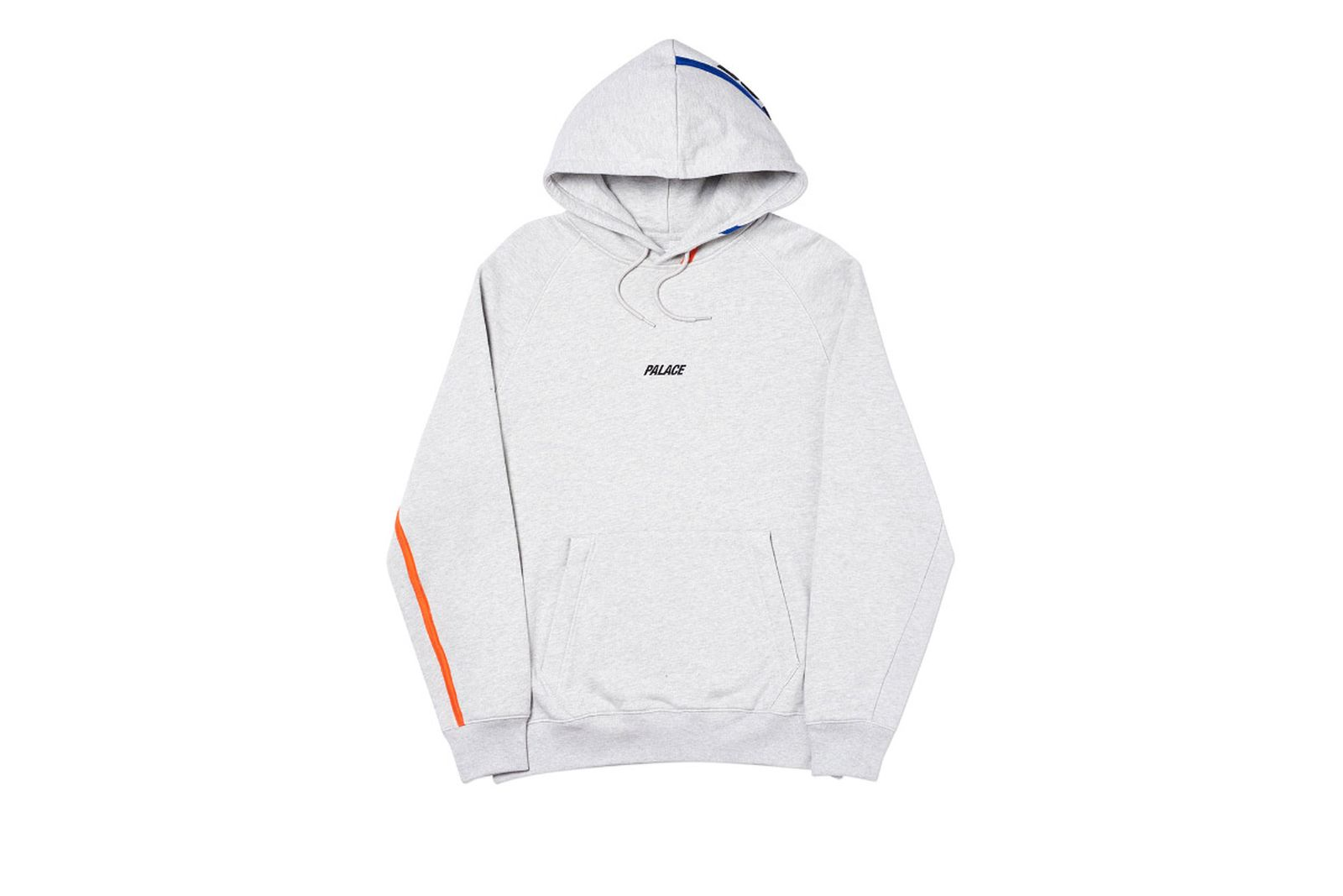 Palace 2019 Autumn Hood Dome Grey Marl Front