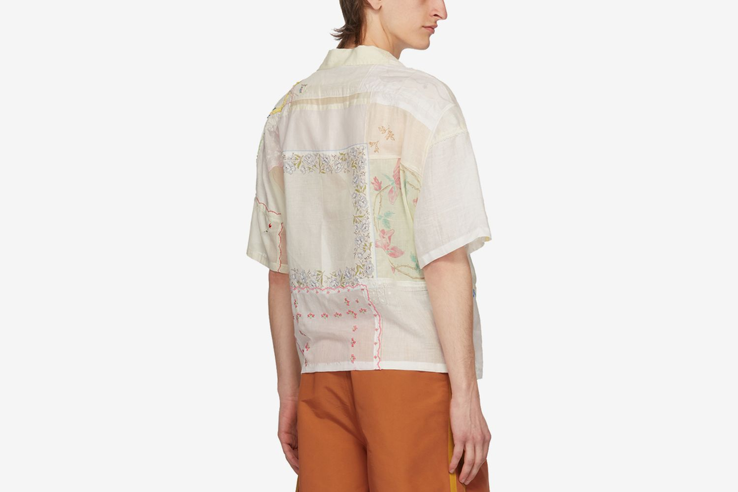 One-Of-A-Kind Handkerchief Patchwork Shirt