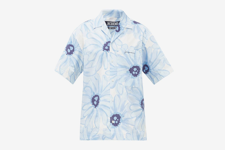 Jean Floral-Print Cotton-Poplin Shirt