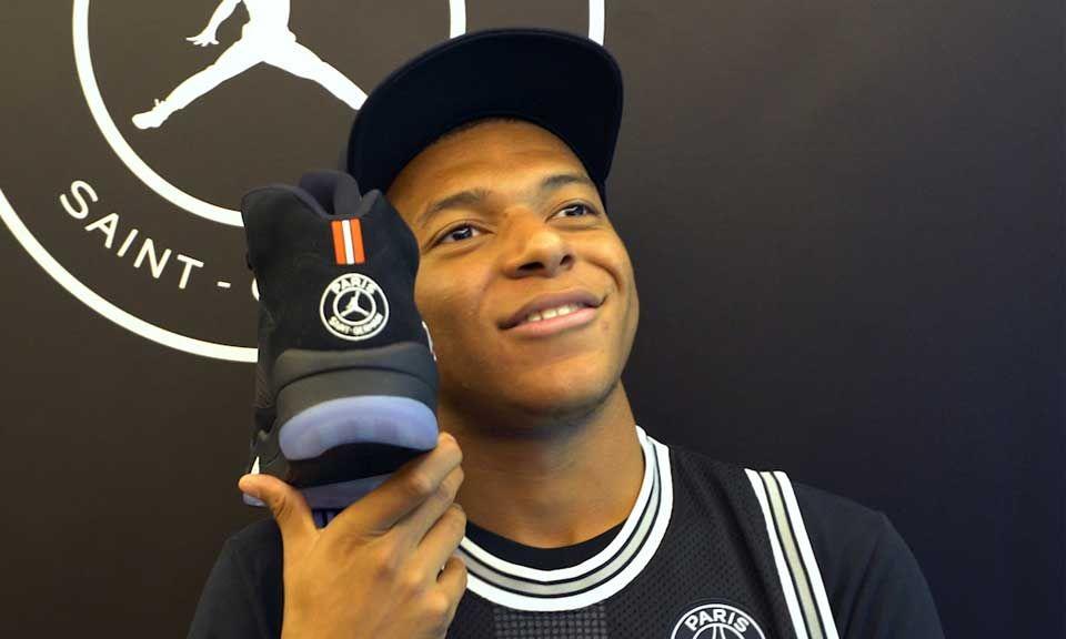 quality design ea064 d3306 Kylian Mbappé Talks Virgil Abloh & Jordan x PSG