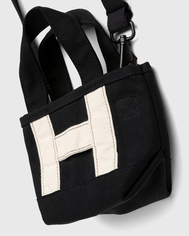 Highsnobiety – Heavy Canvas Small Crossbody Tote Black - Image 3