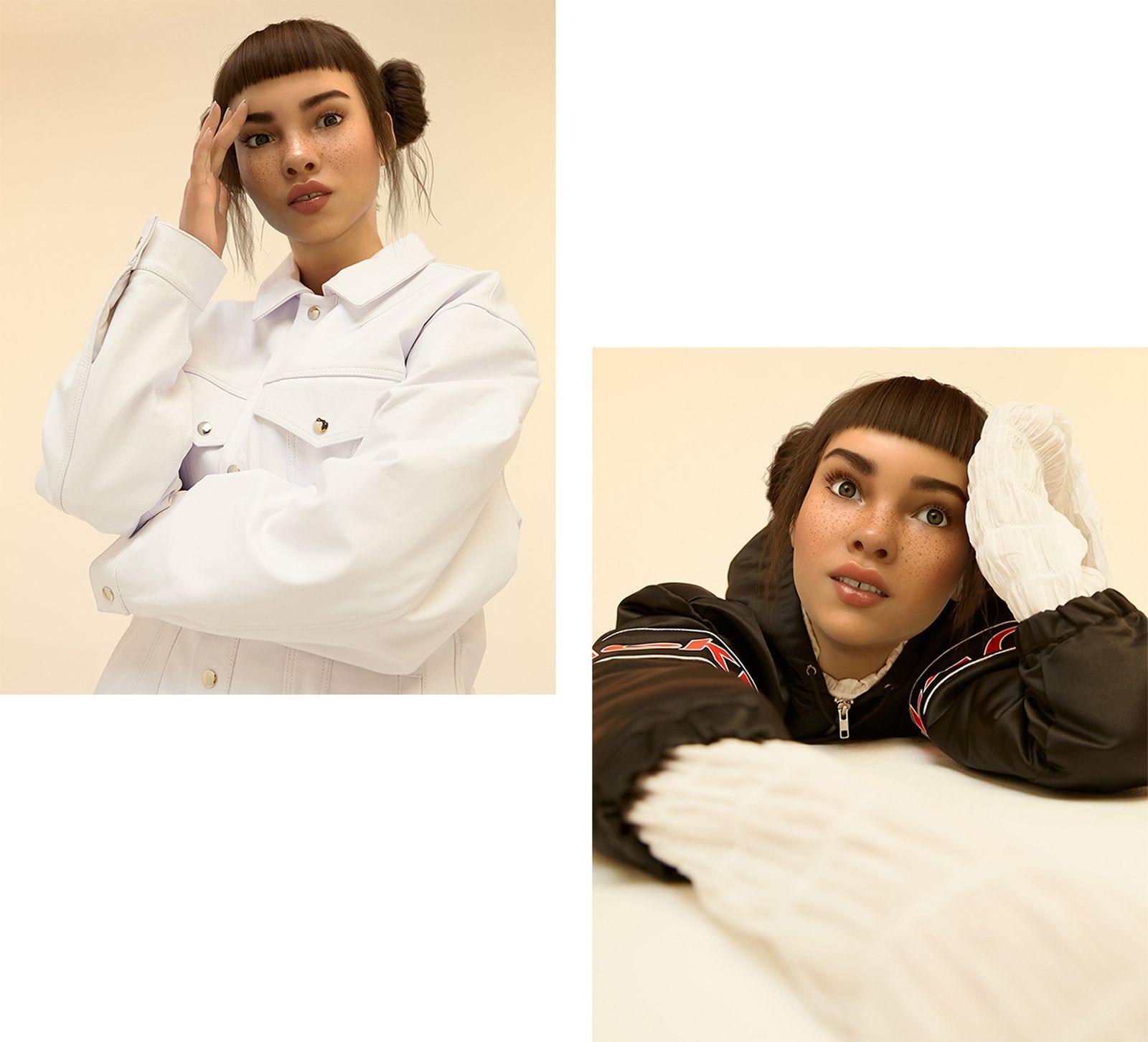 Left Image: Jacket - MARTINE ROSE. Right Image: Shirt - Y/PROJECT, Jacket - BLACKEYEPATCH.
