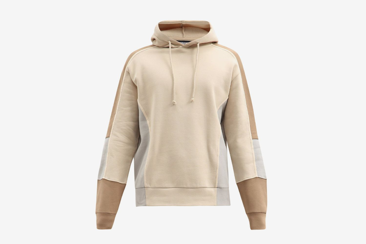 Paneled Cotton-Blend Hooded Sweatshirt