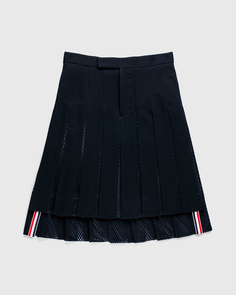 Thom Browne x Highsnobiety — Women's Pleated Mesh Skirt Black