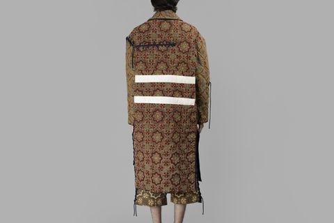 Long Printed Coat