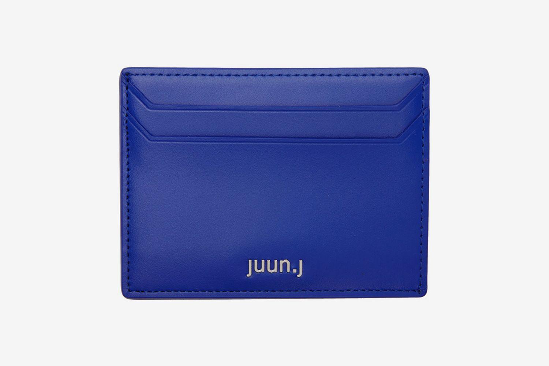 Blue Polished Leather Card Holder