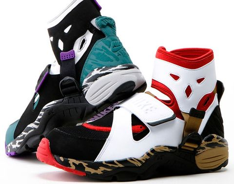 factory authentic 92c4e e41c6 After the OG release from last week, the Nike Air Carnivore comes in  another colorway this season. It features a red black white upper, brown  mid-sole and ...