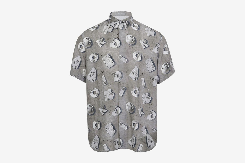 Lunar Print Short Sleeve Shirt