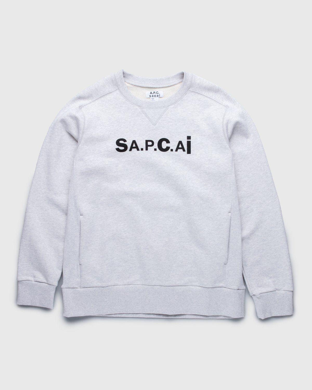 A.P.C. x Sacai — Tani Sweater Light Grey - Image 1
