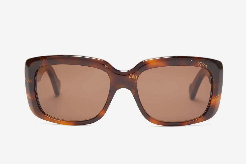 Monogram Logo Square Acetate Sunglasses