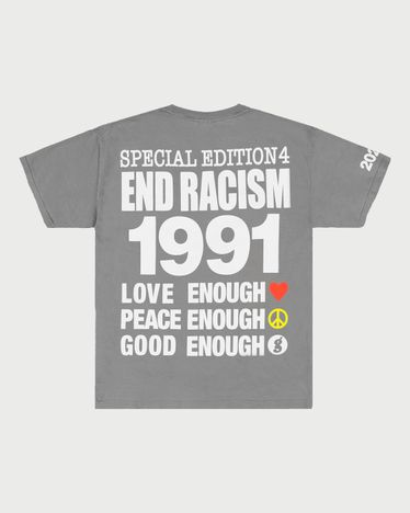 Infinite Archives - End Racism T-Shirt Grey
