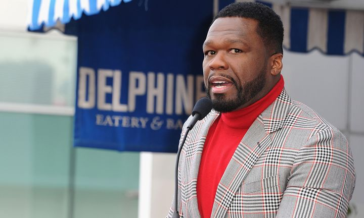 """Curtis """"50 Cent"""" Jackson attends a ceremony honoring him with a star on the Hollywood Walk of Fame"""