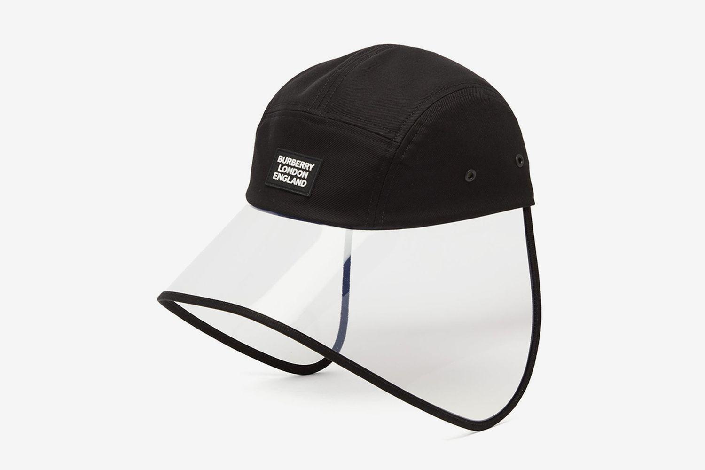 Transparent-Brim Cotton Bonnet Hat