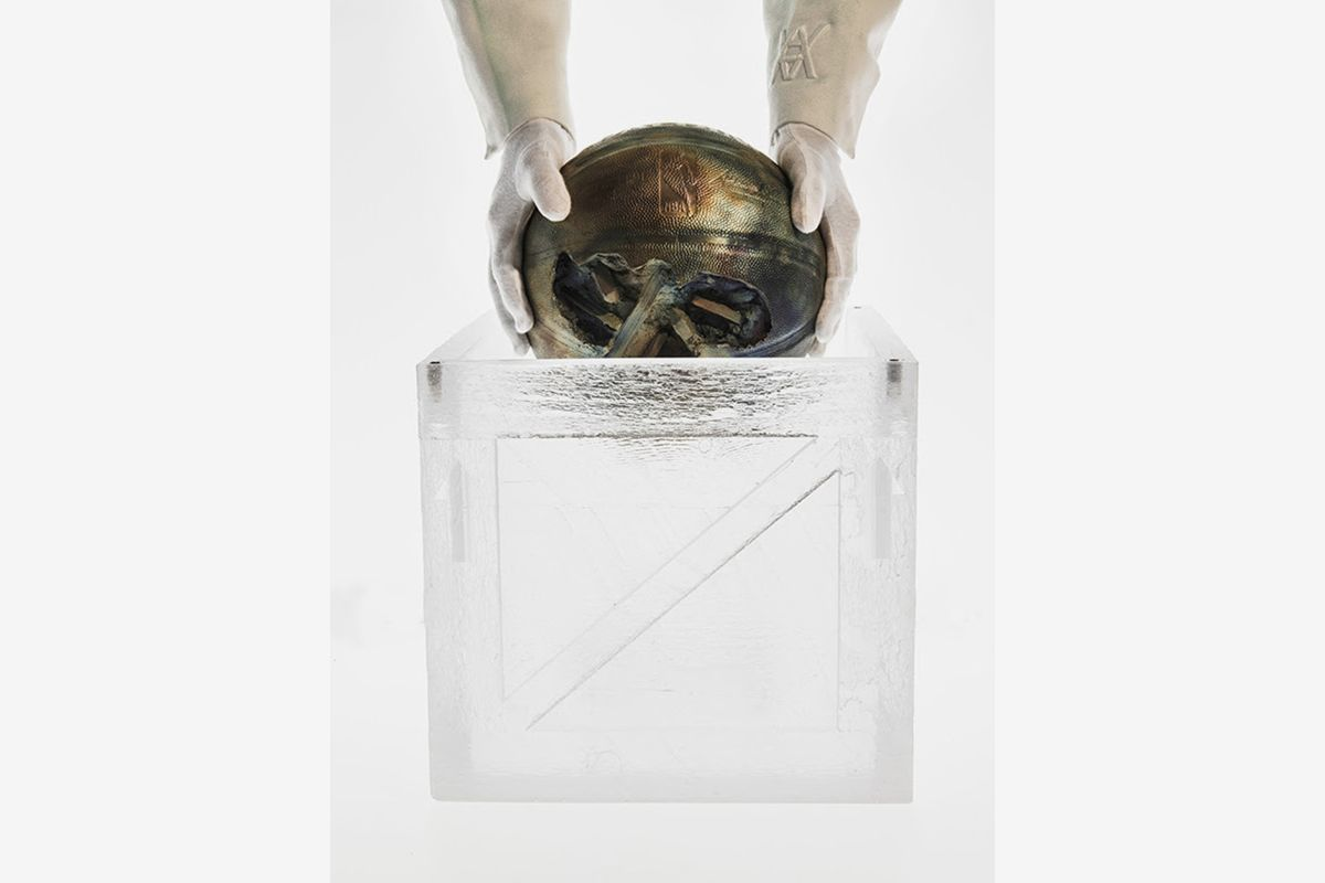 Daniel Arsham Ushers in Hoops Season With 'BRONZE BASKETBALL' Sculpture