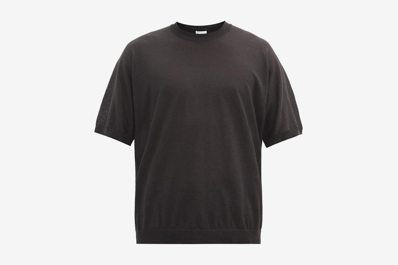 Oversized Linen-Blend T-Shirt