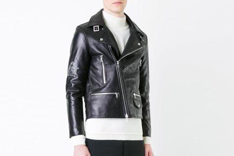 Printed Biker Jacket