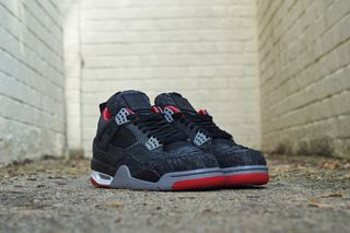 "brand new ea770 011df Air Jordan IV ""Bred"" Black Sueded Python by JBF Customs"