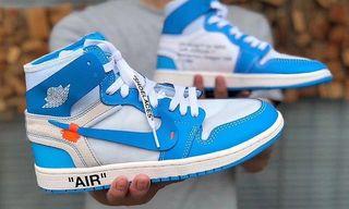 "64cfde538855f ... Virgil Abloh x Nike Air Jordan 1 ""UNC"". Sneakers Style"