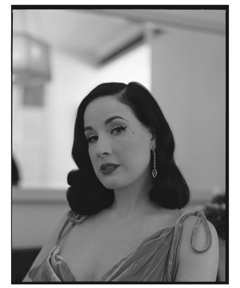 b48cdbb22c7a Dita Von Teese Interview  Queen of Burlesque Dishes on Her Debut