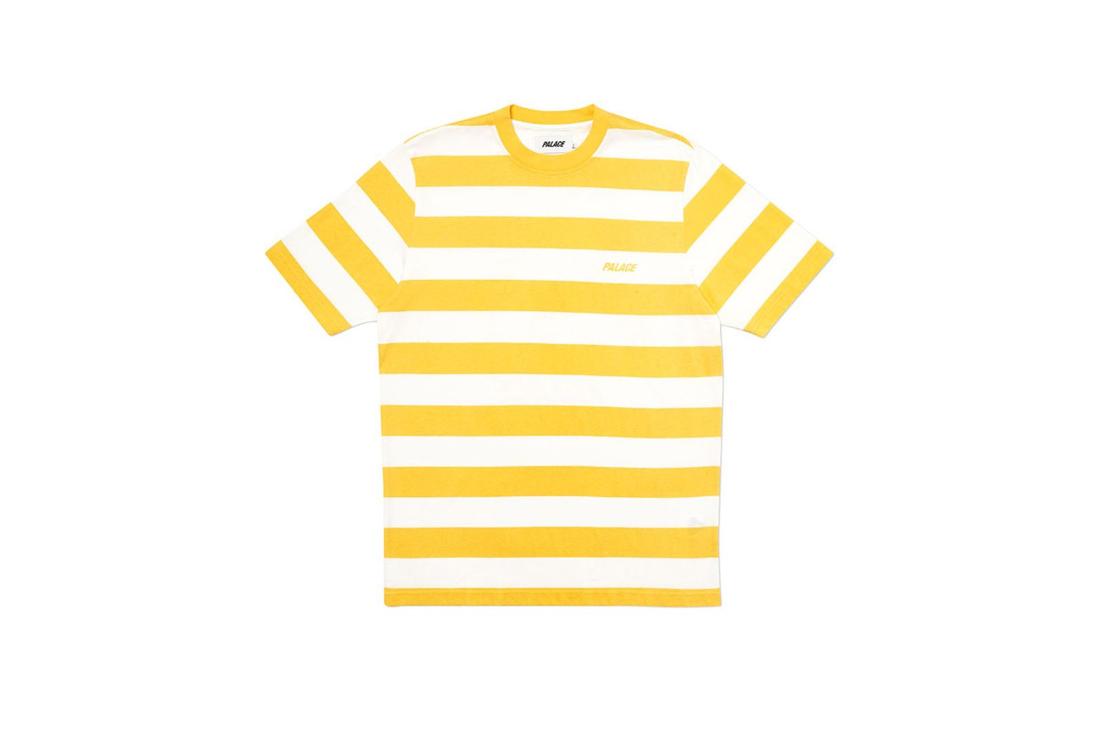 Palace 2019 Autumn T Shirt Heavy Stripe yellow front